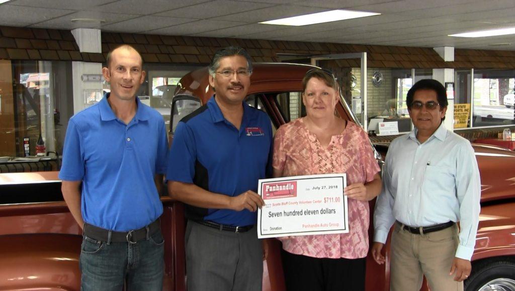 "Volunteer Center receives ""Snow Angel"" donation"