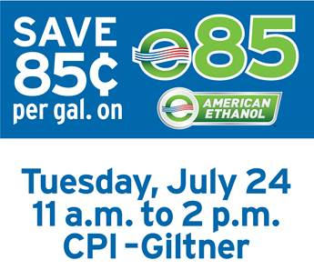 Huge Fuel Savings on E85 at CPI Giltner