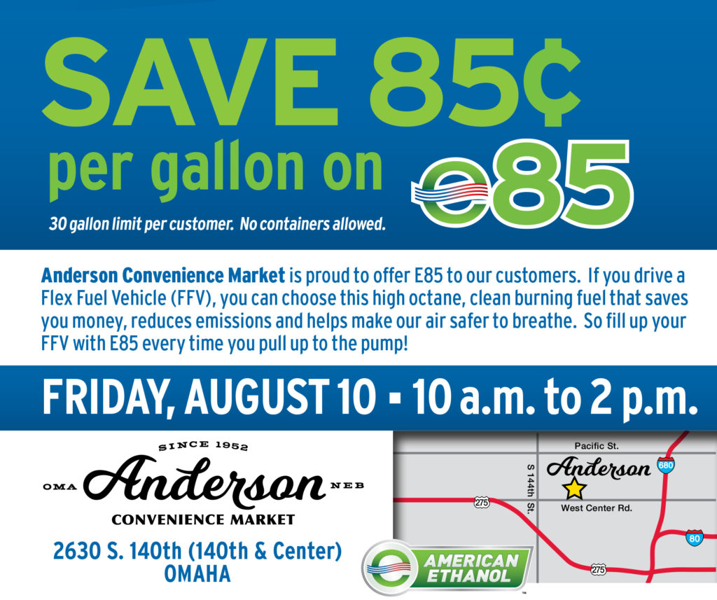E85 Savings for Flex Fuel Drivers in Omaha