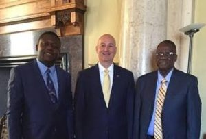 Gov. Ricketts Welcomes Marcel Pika to the State Capitol