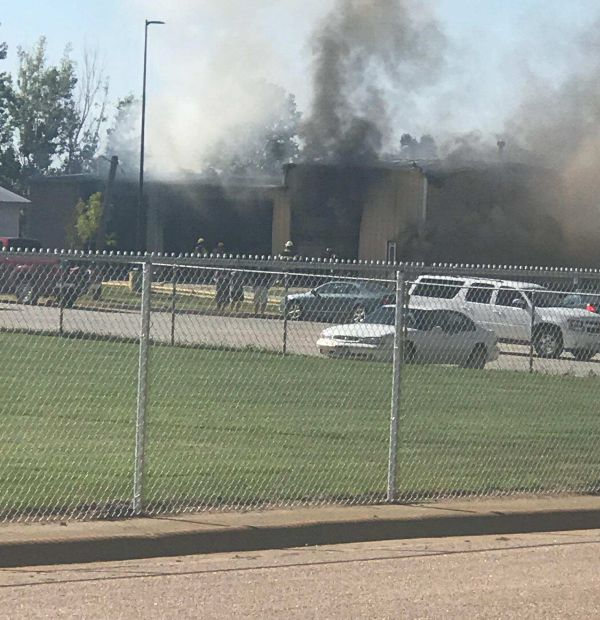 Minden Public Schools bus barn burns