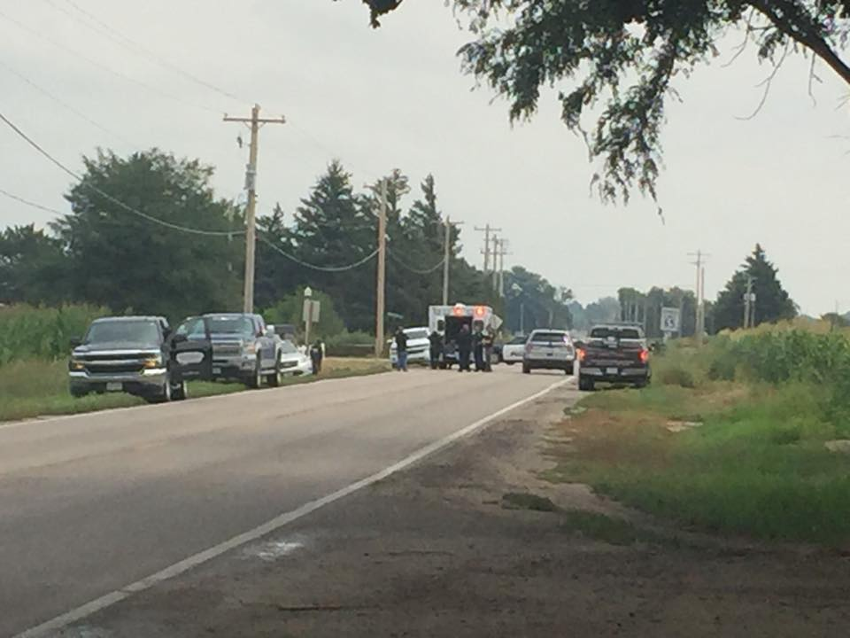 Two vehicle accident closes Highland Road, One taken to hospital