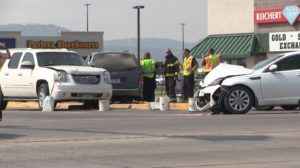 Only minor injuries in three vehicle accident on Highway 26 bypass