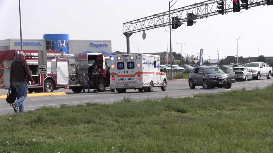 One person transported to Regional West following three vehicle collision