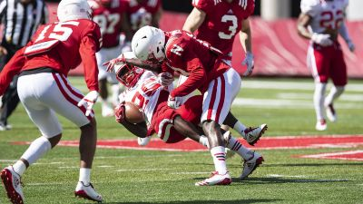 Huskers Start Off Week With Monday Practice