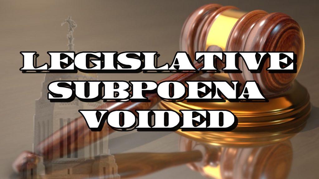 Judge nullifies subpoena aimed at Nebraska corrections head