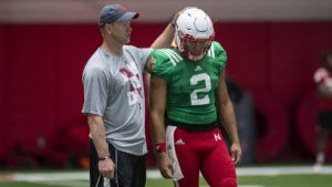 (Video) Frost, Nebraska Football Players Prepare for Purdue
