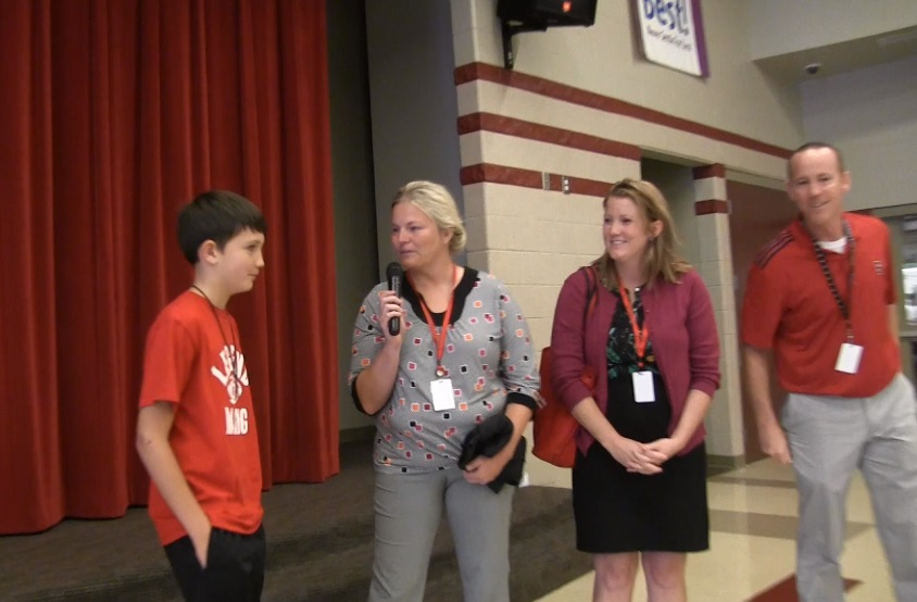 Bluffs Middle Schools Camden Ceplecha named Platte Valley Company's Star Student of the Week