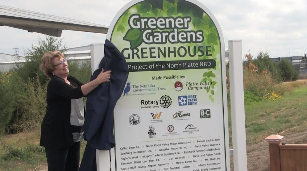 NRD greenhouse unveils donor sign, holds official ribbon cutting