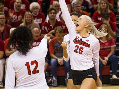 Huskers knock off Wildcats behind Stivrins' big night