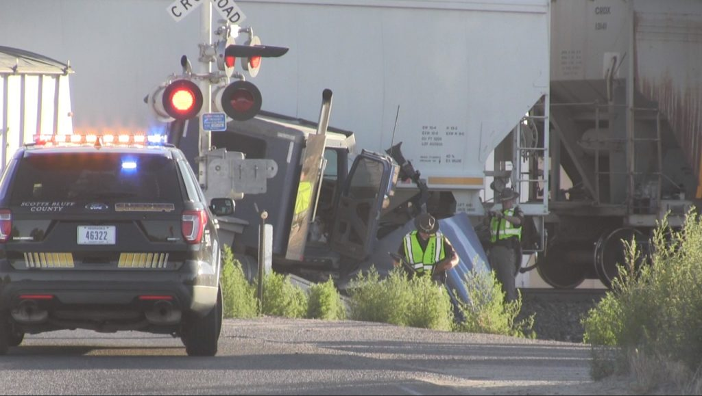 Truck vs. train accident injures one east of Scottsbluff