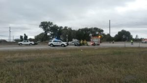 One person killed in two vehicle accident on Highway 26 west of Scottsbluff