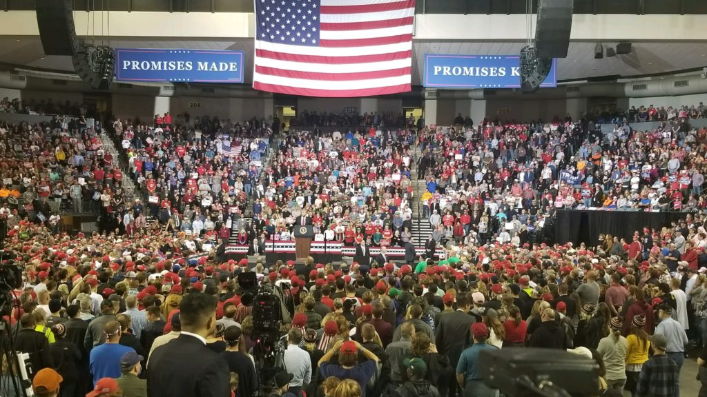 "Trump Crowd In Council Bluffs Chants ""Lock Her Up"""
