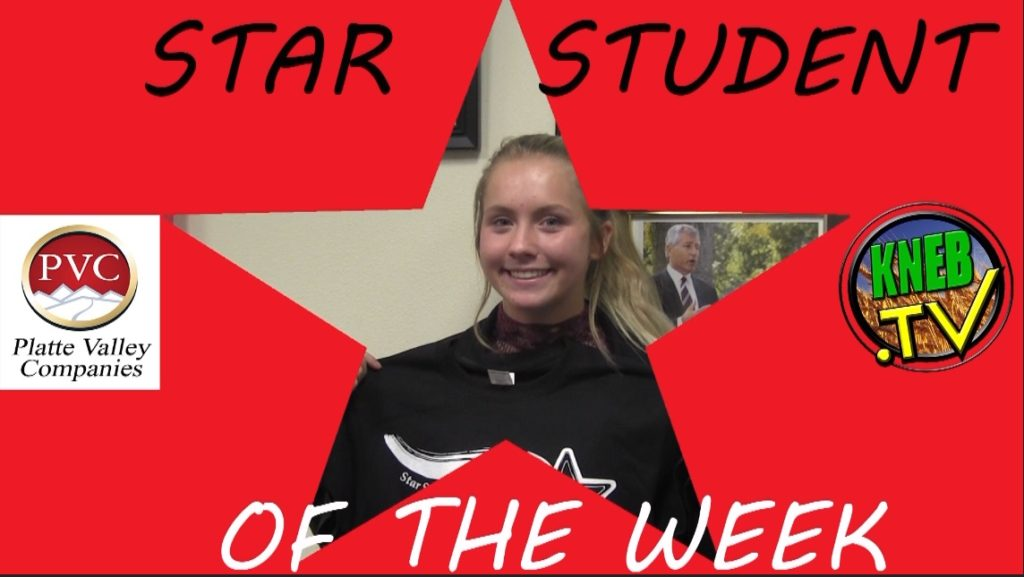Gering's Aleigh Portenier named PVC Star Student of the Week