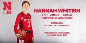 Whitish Named Preseason All-Big Ten