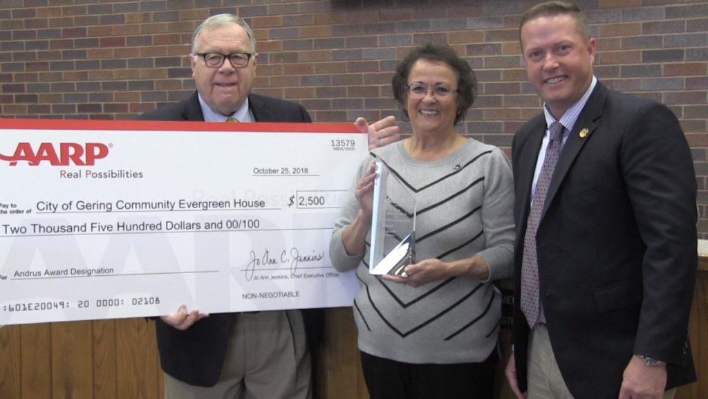 Gering's Carol Knaub receives Nebraska AARP's highest volunteer award