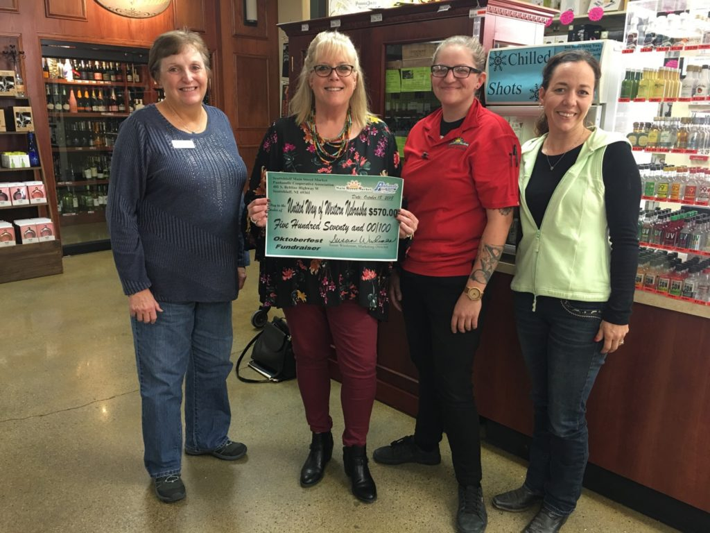 Main Street Market presents Oktoberfest check to United Way