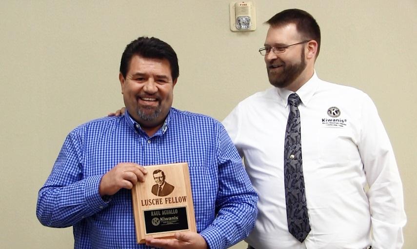 Raul Aguallo receives Kiwanis International's highest award