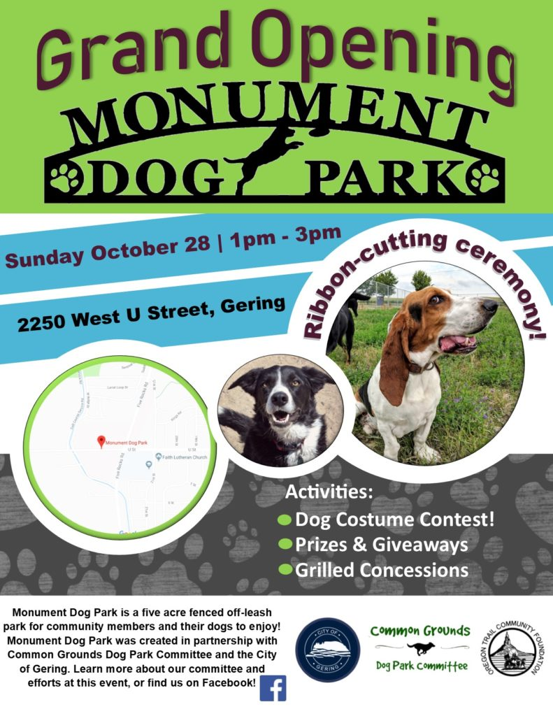 Monument Dog Park in Gering to hold grand opening Sunday