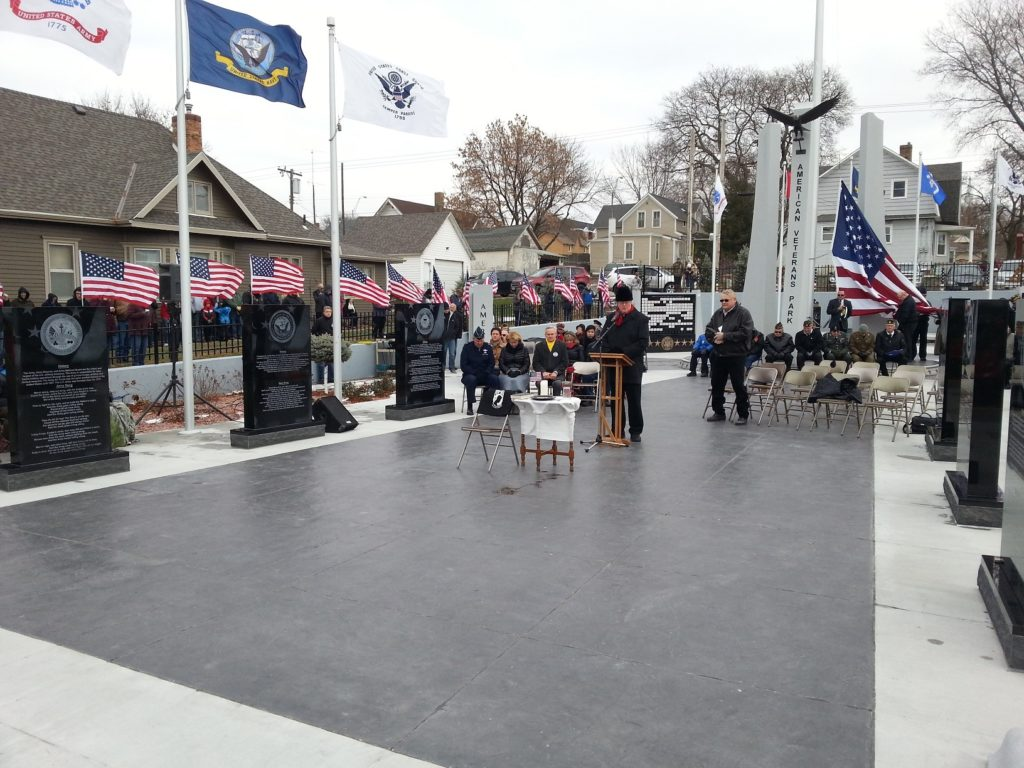 (Audio)  Hundreds Attend Dedication Of New American Veterans Park