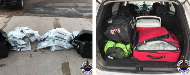 NSP Seizes 78 LBs of Marijuana in Two Traffic Stops near North Platte