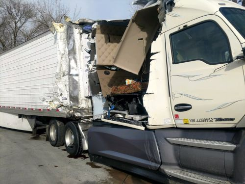 One injured in two-semi crash west of Cozad