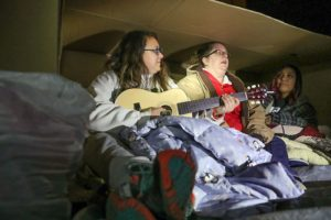 Cold night in cardboard boxes shines light on homelessness