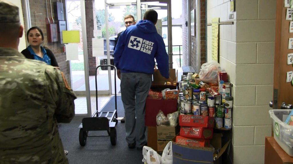 Gift of Love Canned Food collected from local schools Friday