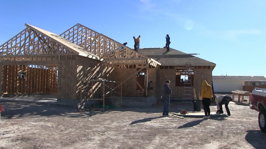 GHS construction class working on 5th home in TCD partnership