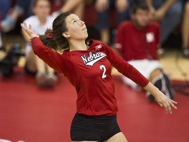 Nebraska Volleyball wins at Michigan