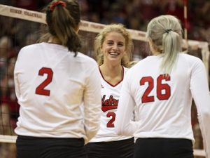 Husker Volleyball wins in four at Purdue
