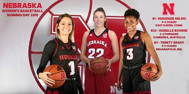 Husker Women sign three