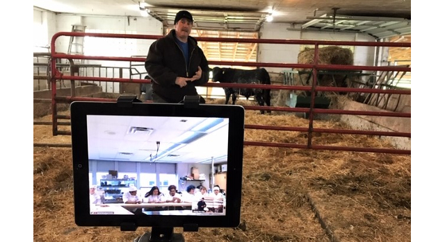 Beef Checkoff connects students with beef farmer