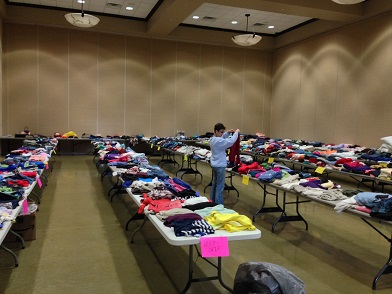 (AUDIO) West Point Optimist Club Clothing Drive being held this week