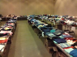(AUDIO) West Point Optimist Club Clothing Drive has big turnout