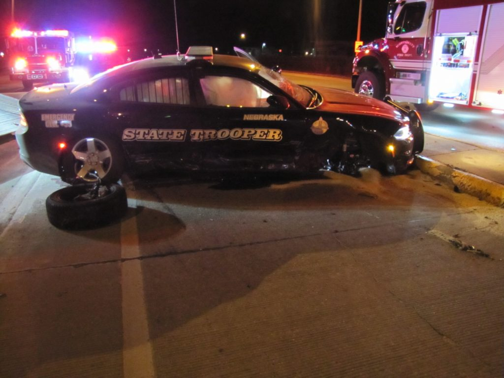 Troopers Uninjured After Cruiser Struck By Car