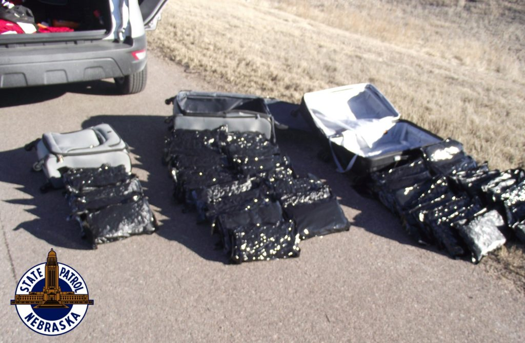 Troopers seize 50 pounds of marijuana in Kimball traffic stop