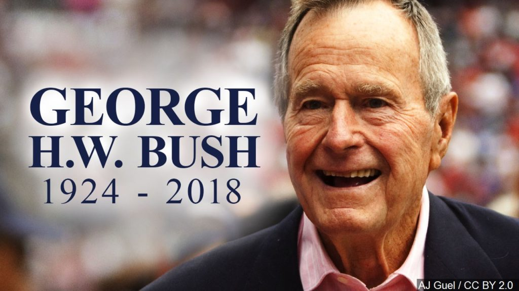 Flags to fly at half-staff to honor former President George H.W. Bush