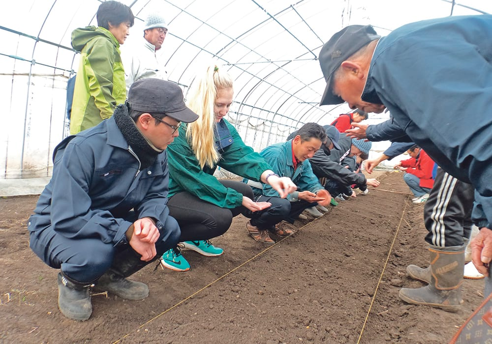 More foreigners see typical country life in Japan through farm stays