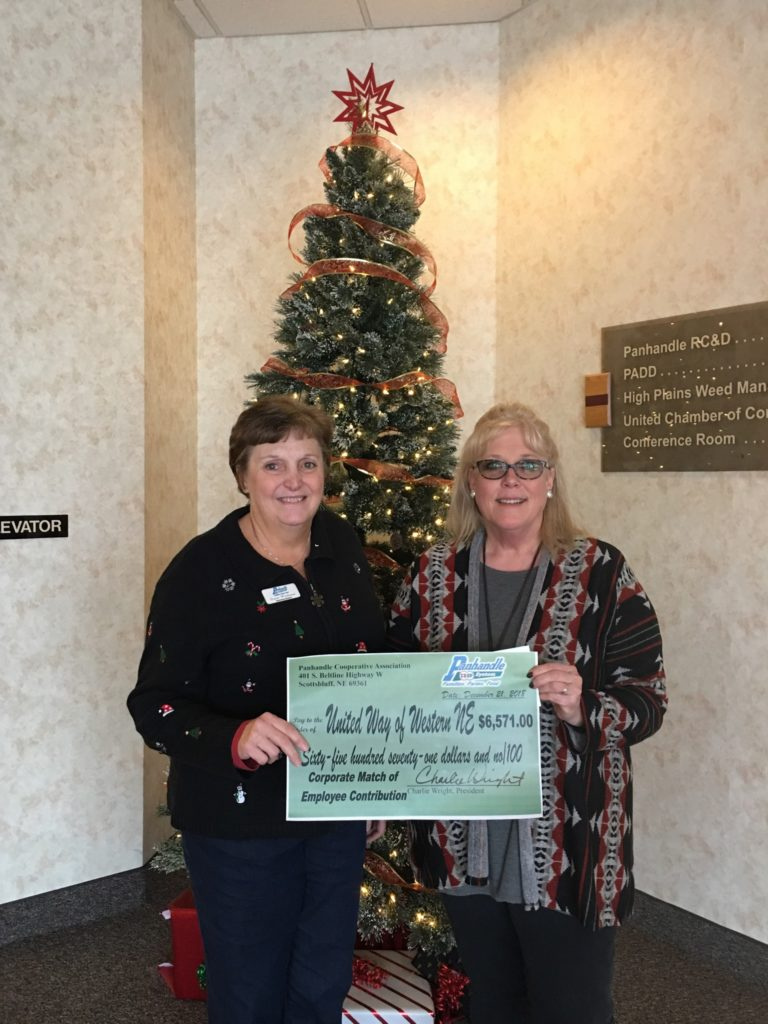 Panhandle COOP Presents Check to United Way of Western Nebraska