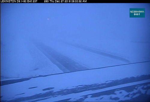 Strong winter storm pummeling west & central  Nebraska