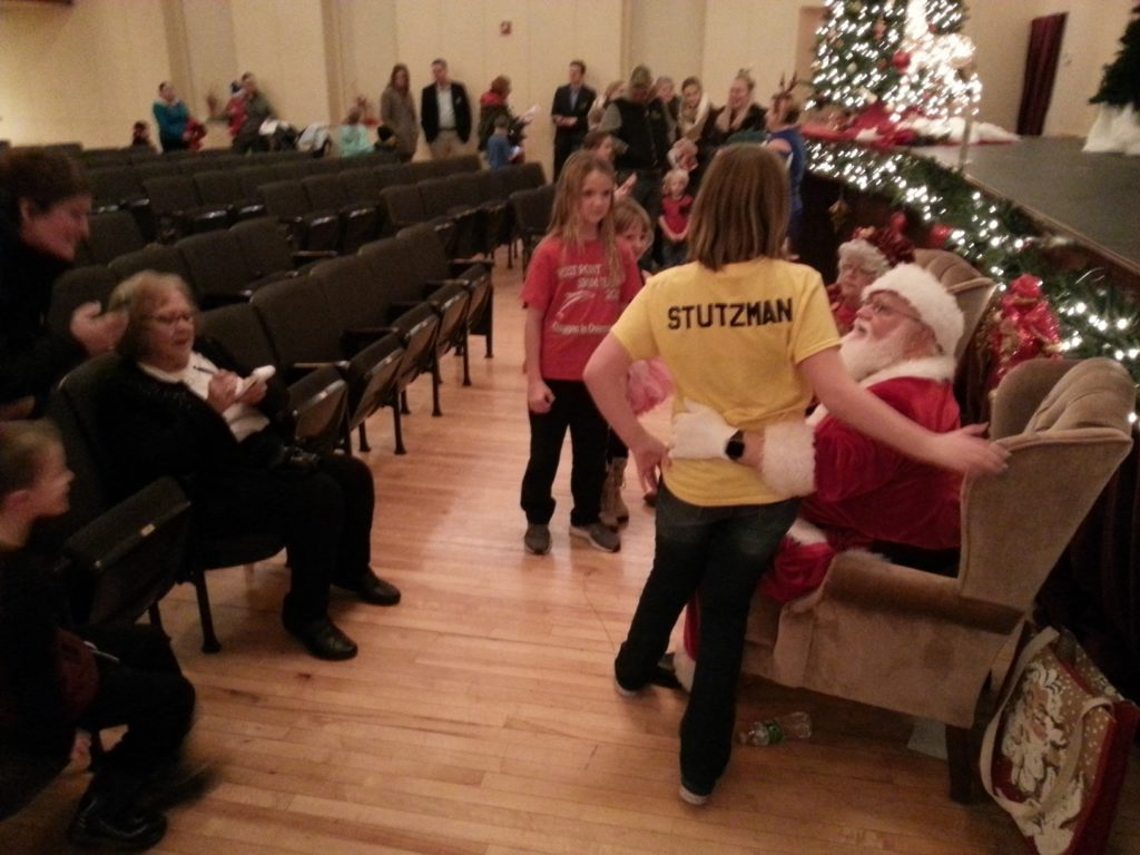 Kids Put In Requests With Santa At West Point Community Theater