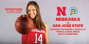 Husker Women Continue Home Stand with Spartans