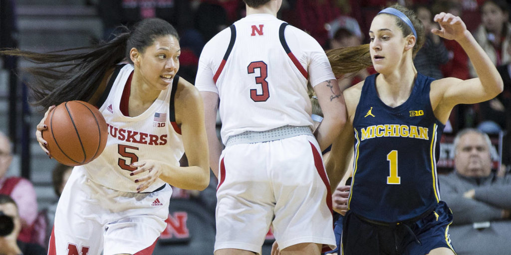 Huskers Storm to Victory Over Michigan, 70-56