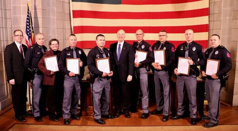 Gov. Ricketts Honors State Patrol's Successes in Protecting Nebraska's Communities