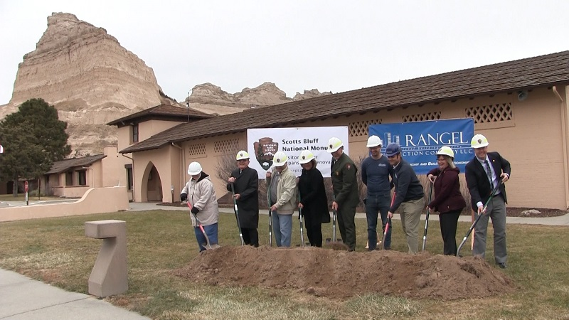 Officials break ground on Visitor Center upgrade at Scotts Bluff Nat'l Monument
