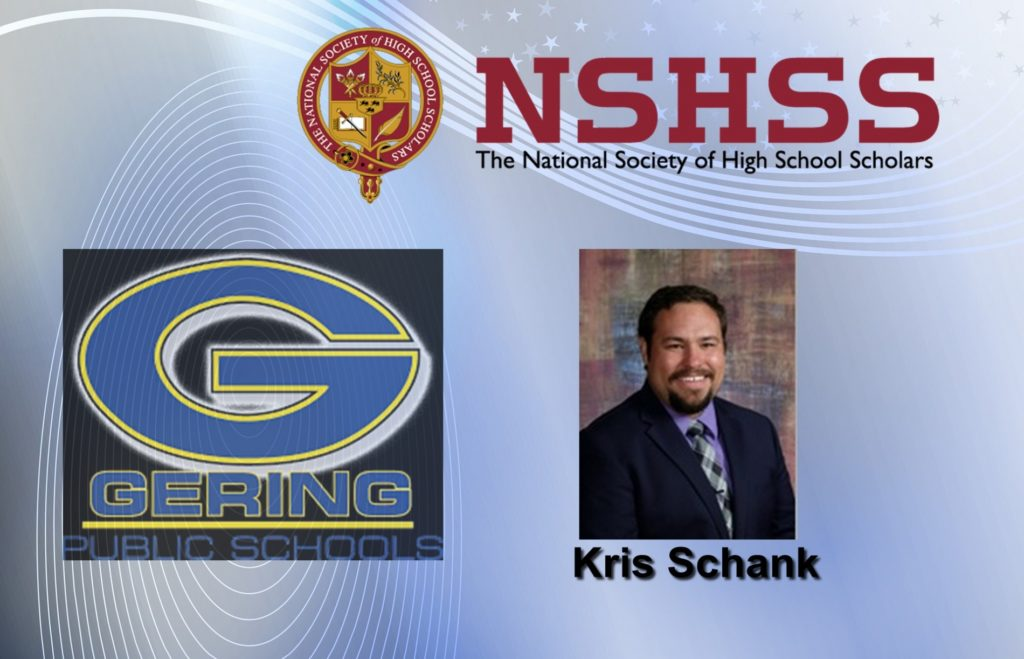 Gering High School Educator Named Claes Nobel Educator of Distinction