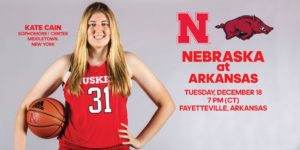 Huskers Close Non-Conference Play at Arkansas