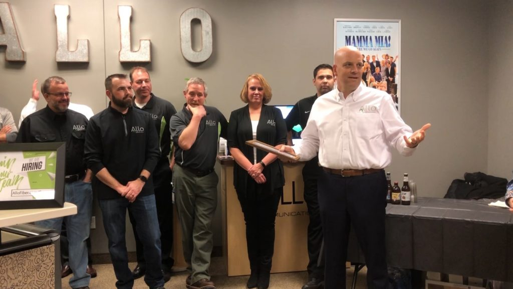 Allo president joins Scottsbluff staff celebrating company's 15th anniversary