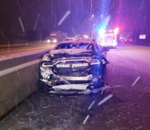 Trooper Injured in Crash, NSP Urges Caution on Roadways